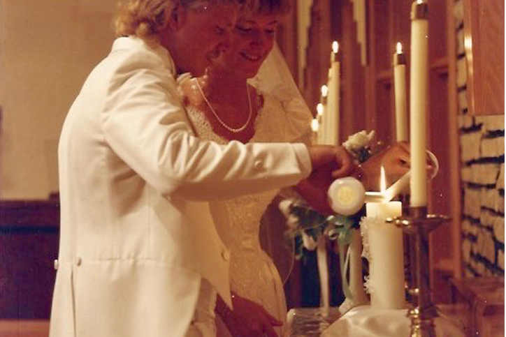 lighting a wedding unity candle